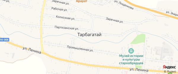 Пролетарская улица на карте села Тарбагатая с номерами домов