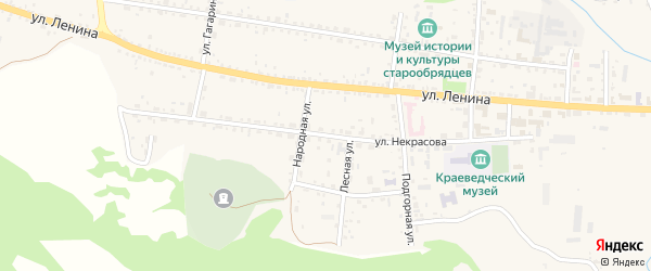 Улица Некрасова на карте села Тарбагатая с номерами домов