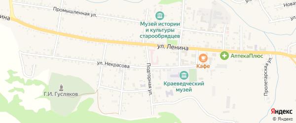 Подгорная улица на карте села Тарбагатая с номерами домов