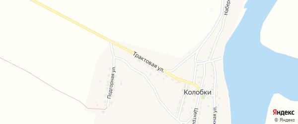 Трактовая улица на карте села Колобки с номерами домов