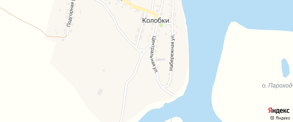 Молодежная улица на карте села Колобки с номерами домов