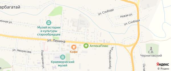 Кооперативная улица на карте села Тарбагатая с номерами домов