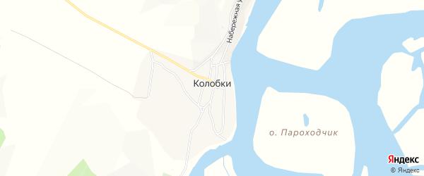 Карта села Колобки в Бурятии с улицами и номерами домов