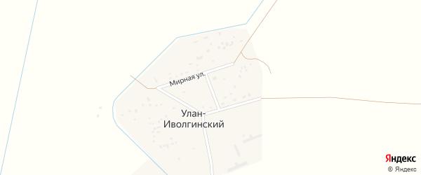 Мирная улица на карте Улан-иволгинского улуса с номерами домов