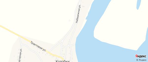 Набережная улица на карте села Колобки с номерами домов