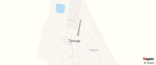 Дорожная улица на карте территории ДНТ Радуги с номерами домов