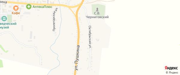 Октябрьская улица на карте села Тарбагатая с номерами домов