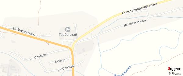 Улица Энергетиков на карте села Тарбагатая с номерами домов
