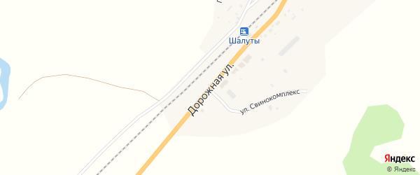 Дорожная улица на карте села Солонцов с номерами домов