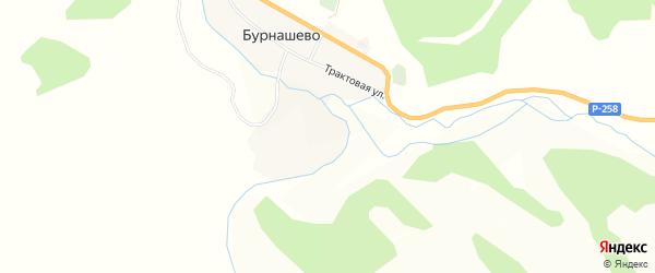 Карта села Бурнашево в Бурятии с улицами и номерами домов