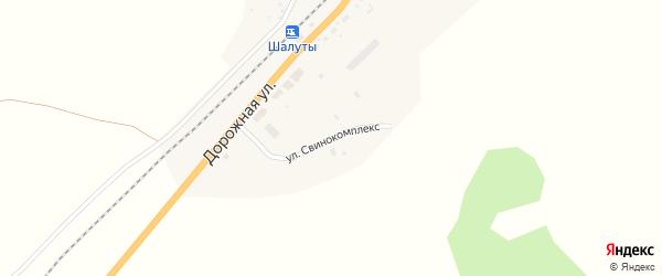 Улица Свинокомплекс на карте села Солонцов с номерами домов