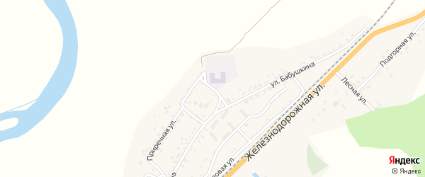 Улица Бабушкина на карте села Солонцов с номерами домов
