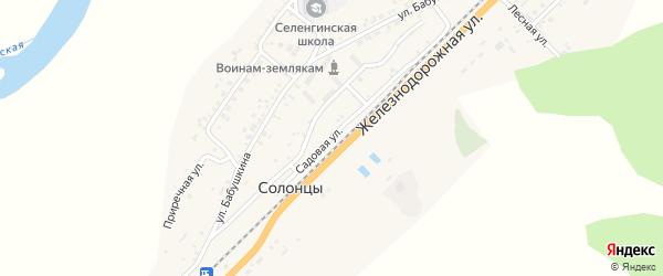 Садовая улица на карте села Солонцов с номерами домов