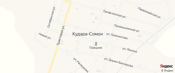 Комсомольская улица на карте села Кудары-Сомон с номерами домов