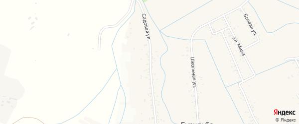 Садовая улица на карте села Гурульбы с номерами домов