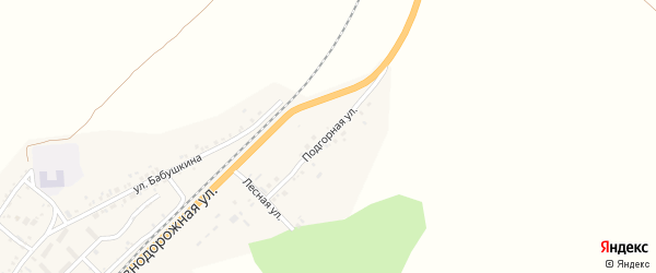 Подгорная улица на карте села Солонцов с номерами домов