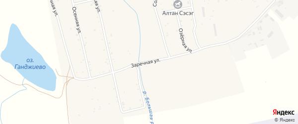 Заречная улица на карте села Гурульбы с номерами домов