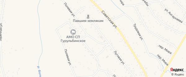 Полевая улица на карте села Гурульбы с номерами домов