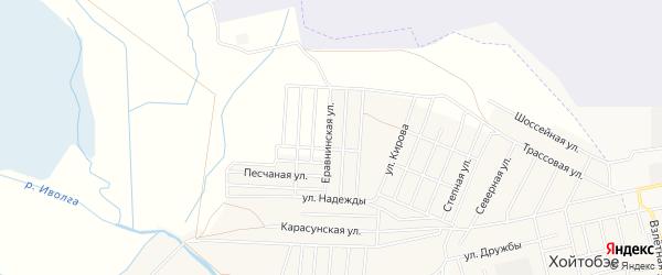 Дачное некоммерческое партнерство ДНТ БУУСА на карте села Верхней Иволги с номерами домов