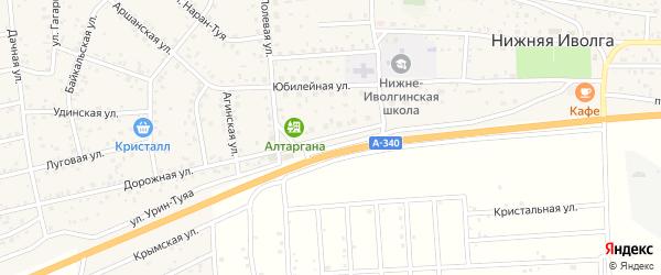 Полевая улица на карте села Нижней Иволги с номерами домов