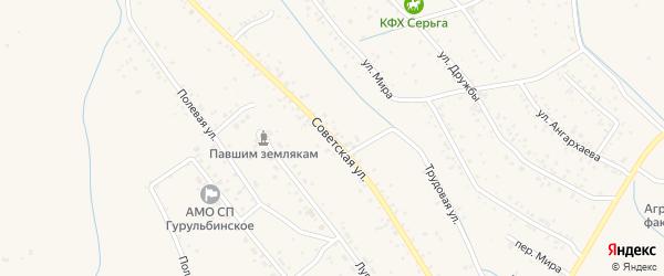 Советская улица на карте села Гурульбы с номерами домов