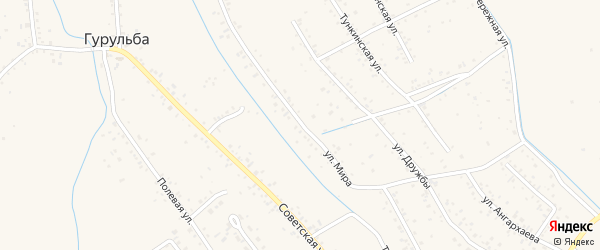 Улица Мира на карте села Гурульбы с номерами домов