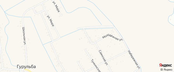Молодежная улица на карте территории ДНТ Лика с номерами домов