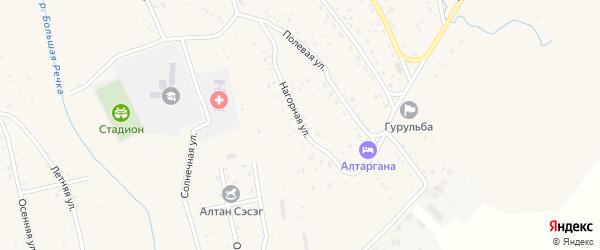 Нагорная улица на карте села Гурульбы с номерами домов