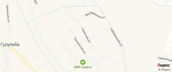 Саянская улица на карте села Гурульбы с номерами домов