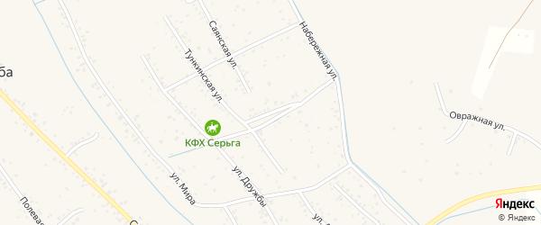 Галбайская улица на карте села Гурульбы с номерами домов
