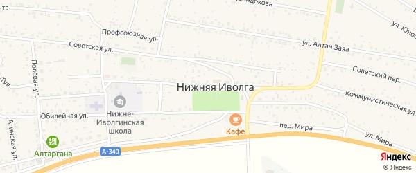 Коммунистическая улица на карте села Нижней Иволги с номерами домов