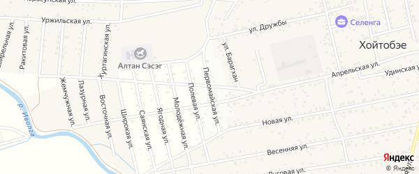 Первомайская улица на карте территории ДНТ Лика с номерами домов