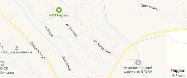 Улица Б.Д.Ангархаева на карте села Гурульбы с номерами домов