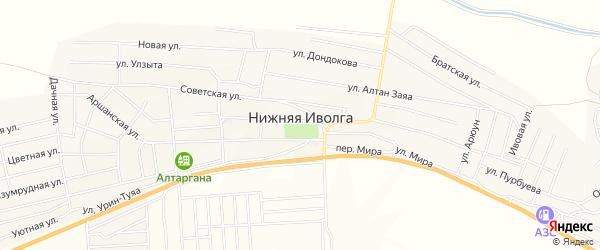 Территория ДНТ Юность на карте села Нижней Иволги с номерами домов