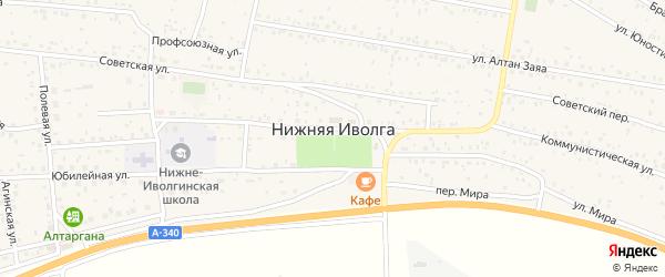 Ивовая улица на карте села Нижней Иволги с номерами домов