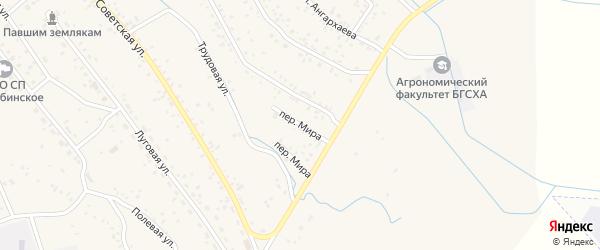 Переулок Мира на карте села Гурульбы с номерами домов