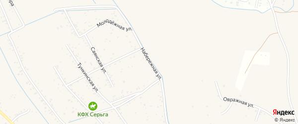 Набережная улица на карте села Гурульбы с номерами домов