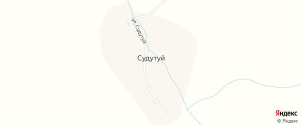 Улица Судутуй на карте улуса Судутуй с номерами домов