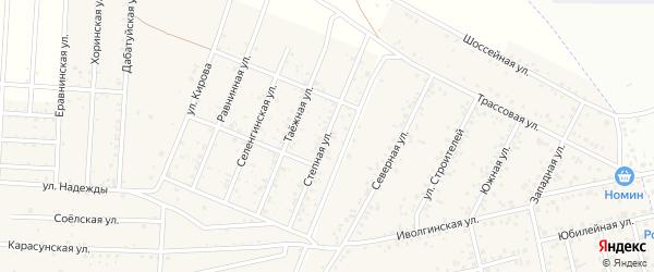 Степная улица на карте территории ДНТ Алтаргана с номерами домов