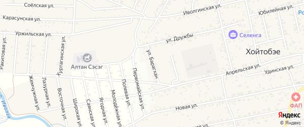 Улица Барагхан на карте улуса Хойтобэе с номерами домов