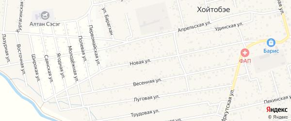 Новая улица на карте улуса Хойтобэе с номерами домов
