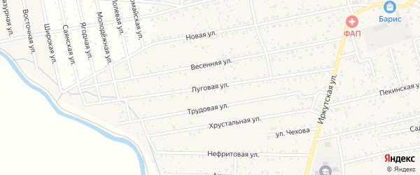 Луговая улица на карте улуса Хойтобэе с номерами домов
