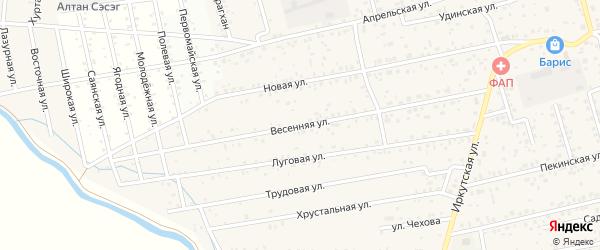 Весенняя улица на карте улуса Хойтобэе с номерами домов