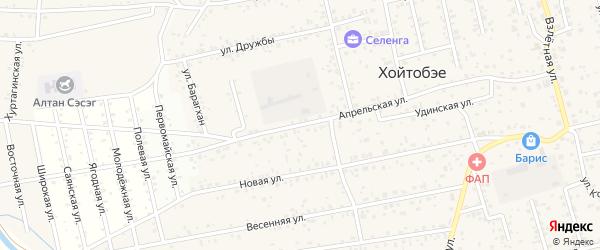 Апрельская улица на карте улуса Хойтобэе с номерами домов