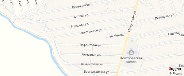 Улица Чехова на карте улуса Хойтобэе с номерами домов