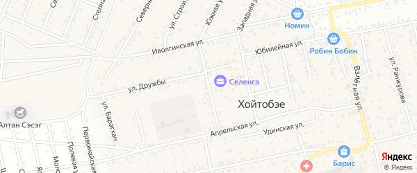 Курумканская улица на карте улуса Хойтобэе с номерами домов