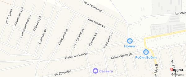 Южная улица на карте улуса Хойтобэе с номерами домов