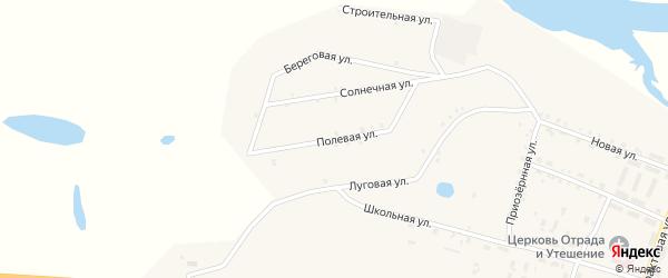 Полевая улица на карте поселка Татаурово с номерами домов