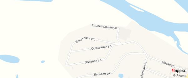 Береговая улица на карте поселка Татаурово с номерами домов