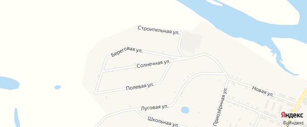 Солнечная улица на карте поселка Татаурово с номерами домов
